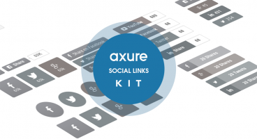 Axure Social Media buttons