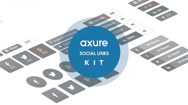 Axure Social Media buttons