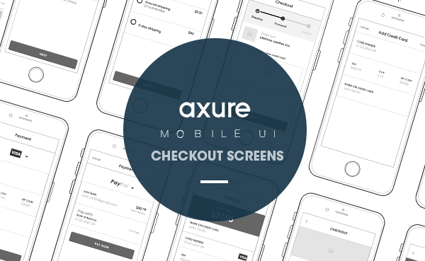 Axure Checkout mobile screens