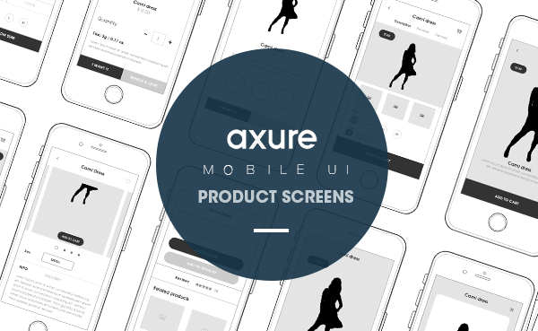 Axure Product mobile screens