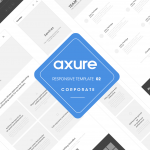 Axure responsive template Corporate 2