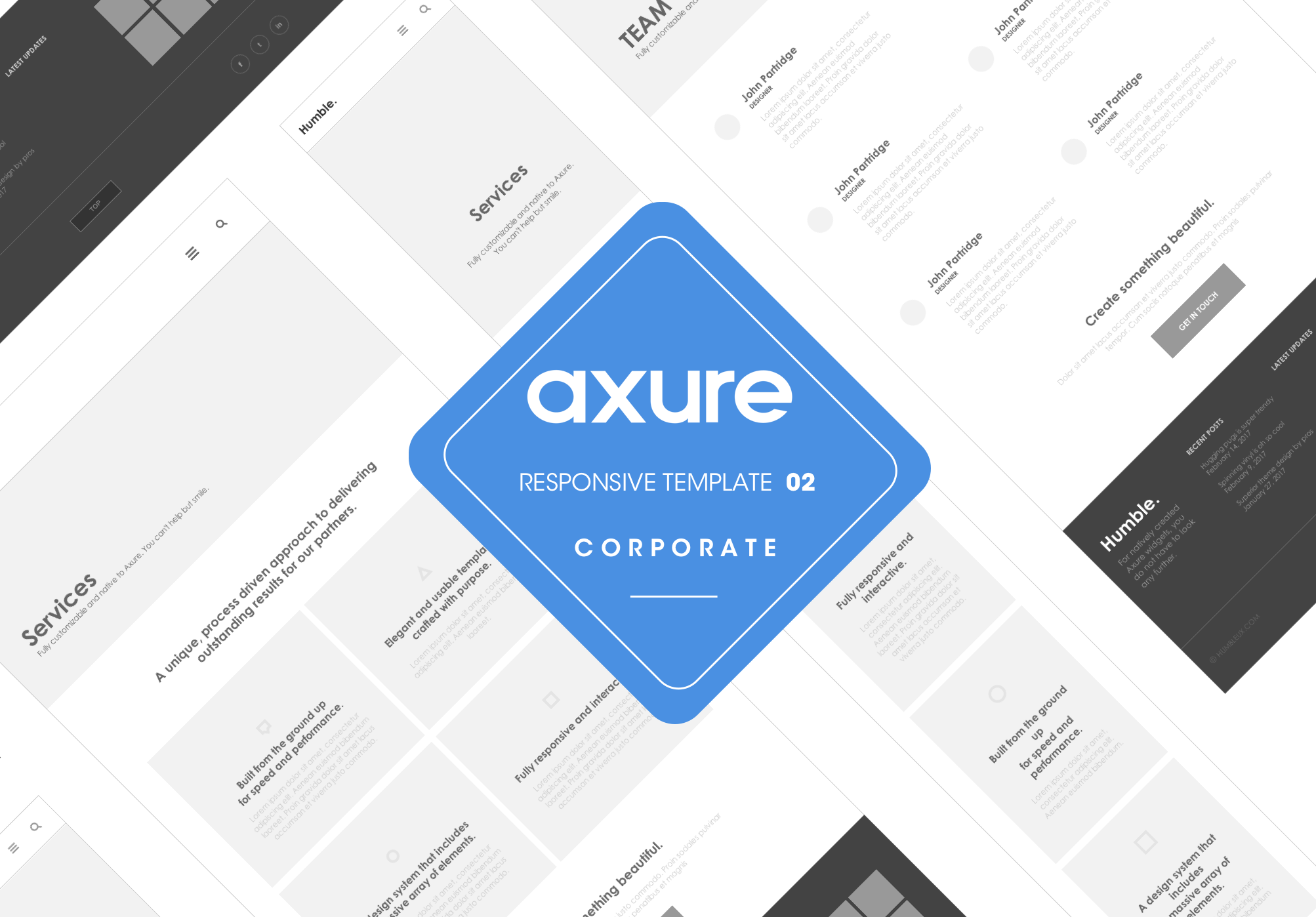 Axure responsive template corporate website for Axure tablet template