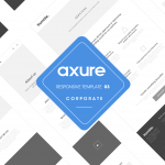Axure responsive template Corporate 3