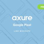 Axure Google Pixel Line Mockups