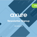 Axure Newsletter Signup Forms