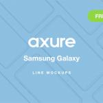Axure Samsung Galaxy Line Mockups