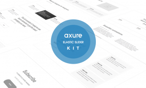 Axure Elastic slider kit