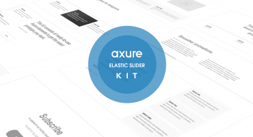 Axure Elastic slider kit