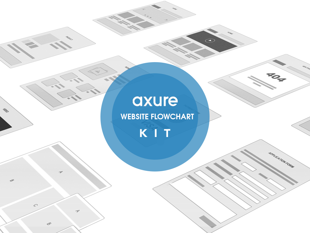 Axure Website FlowchartKit