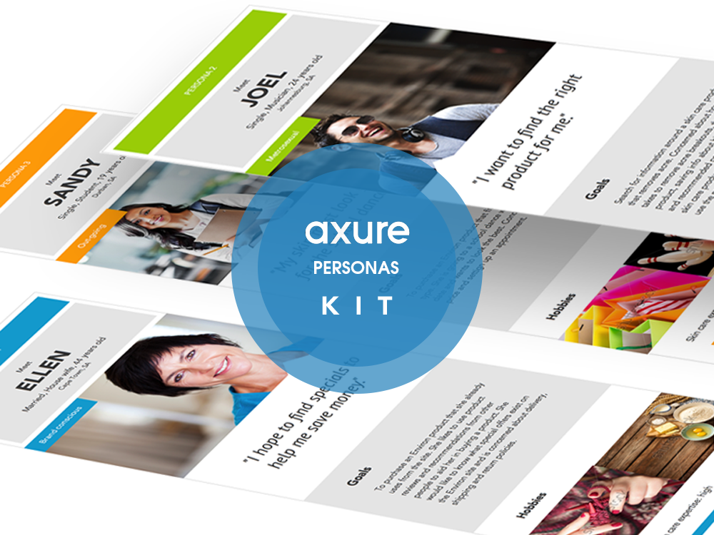 Personas Axure widget kit