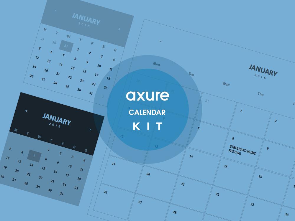 Calendar Axure widget kit