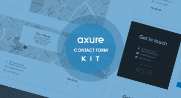 Contact form Axure kit