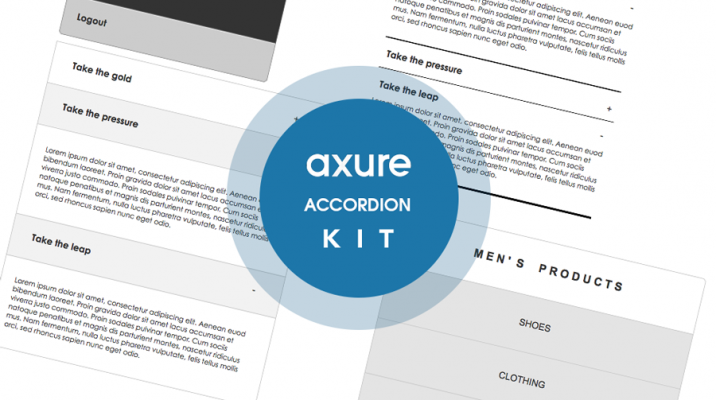 Axure Accordion Axure kit