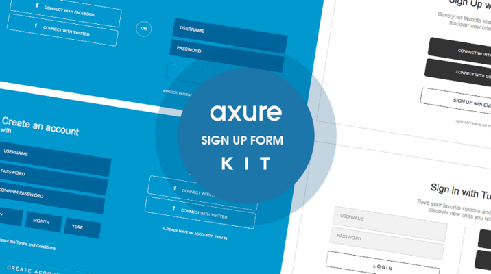 Sign up form library for Axure