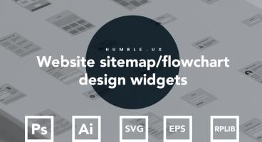 Website sitemap flowchart design widgets