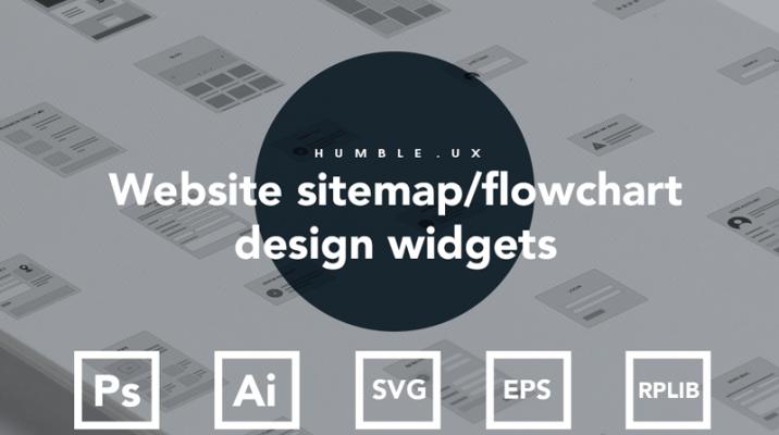 Axure Website sitemap flowchart design widgets