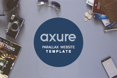 Axure Parallax website template
