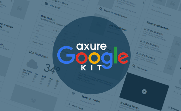 Axure Google Now Cards