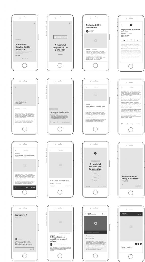 Axure mobile UI kit