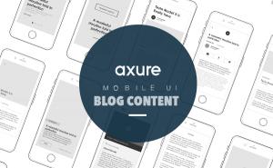 Axure mobile ui Blog content