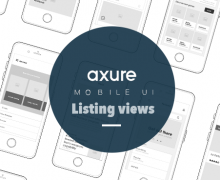 Axure mobile UI listing view