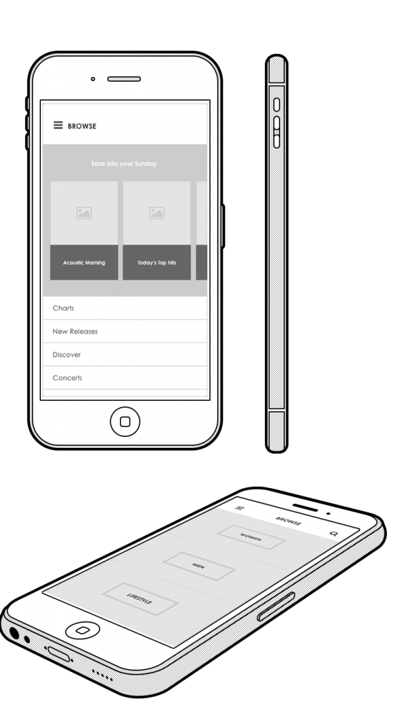 Axure mobile listing view