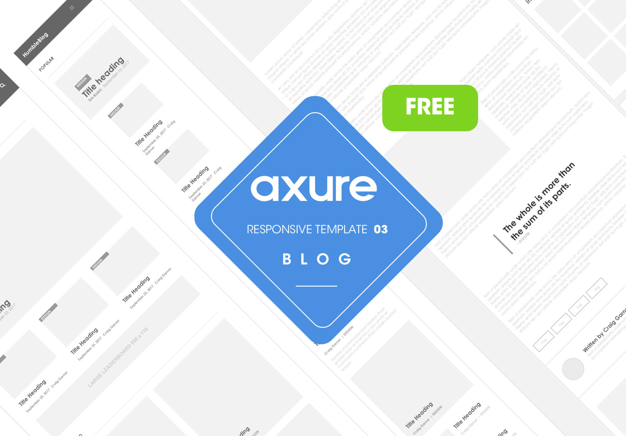 Axure responsive Blog template