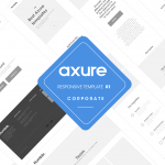 Axure responsive template Corporate 1