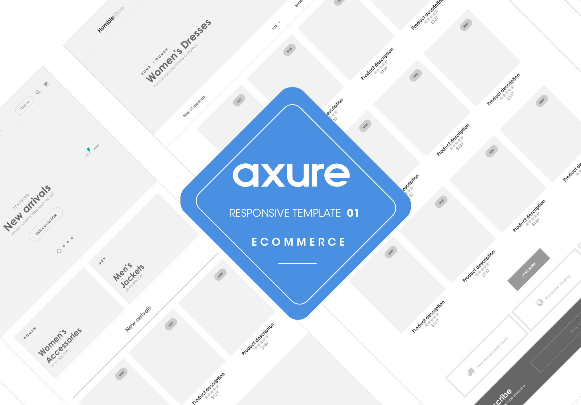 Axure Responsive Template Ecommerce Website