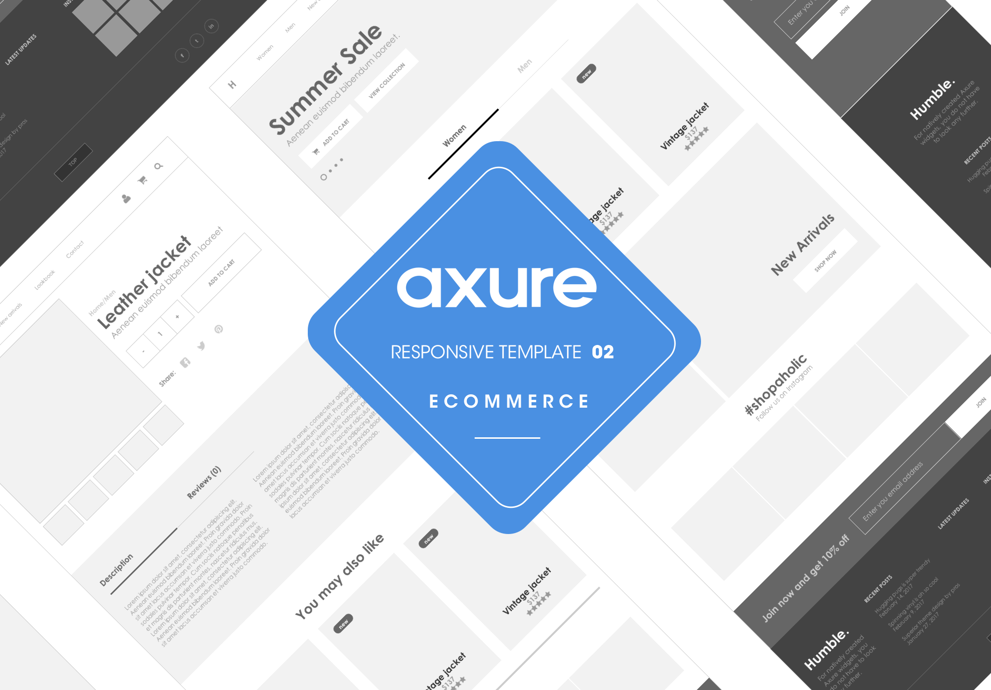 Axure responsive store 2 template cover