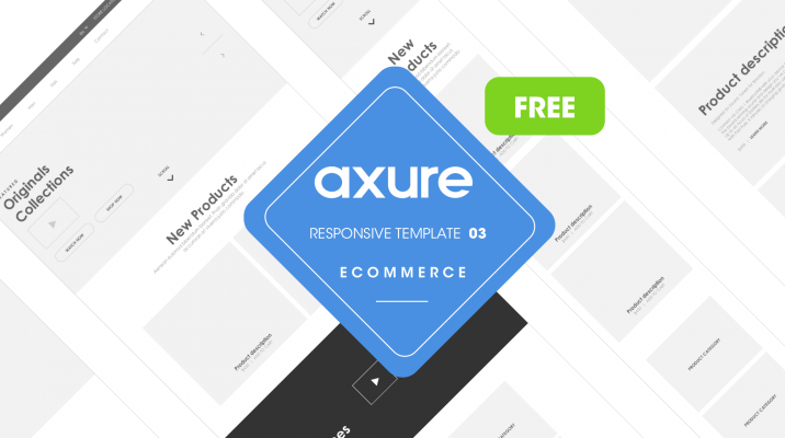 Free Axure responsive store 3 template close-up