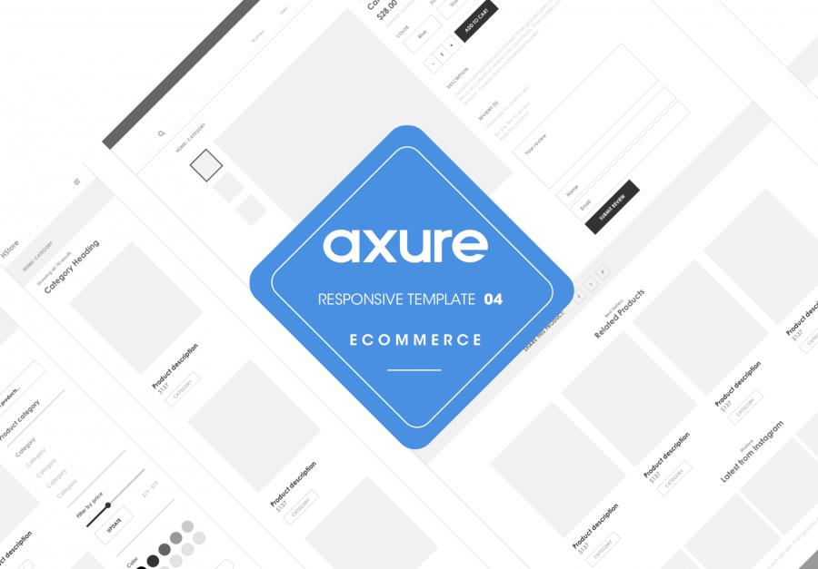 Axure responsive ecommerce template close-up