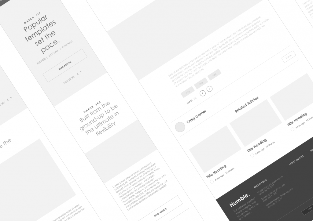 axure tablet template - axure responsive template blog website 1