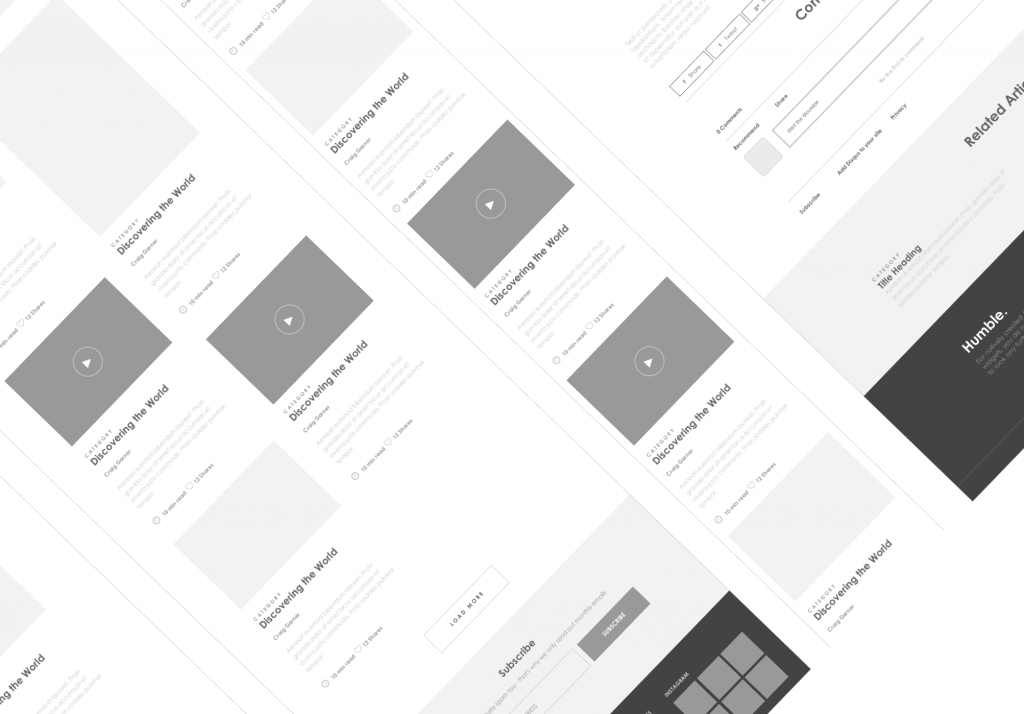 Axure responsive template blog website 4 for Axure tablet template