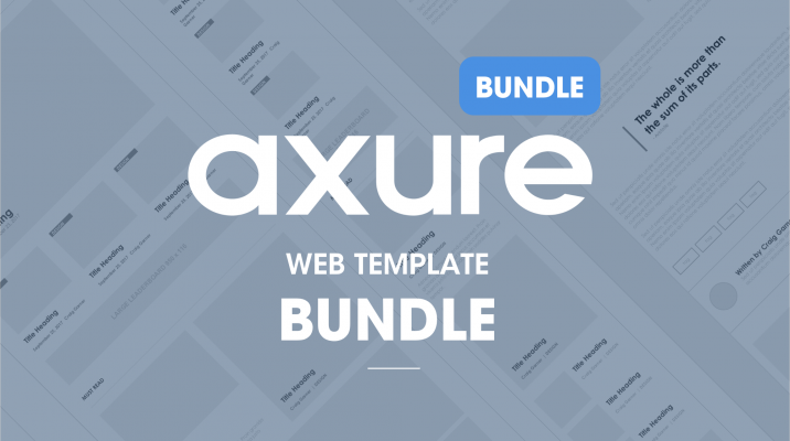 Axure Web template bundle