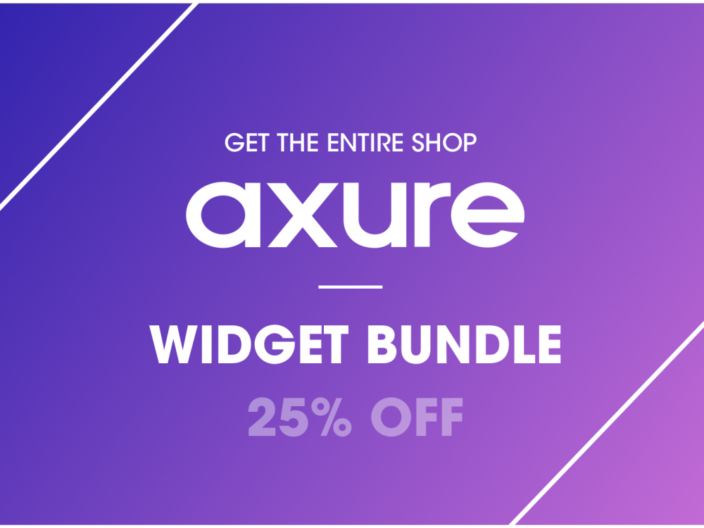 Axure widget bundle 25% OFF