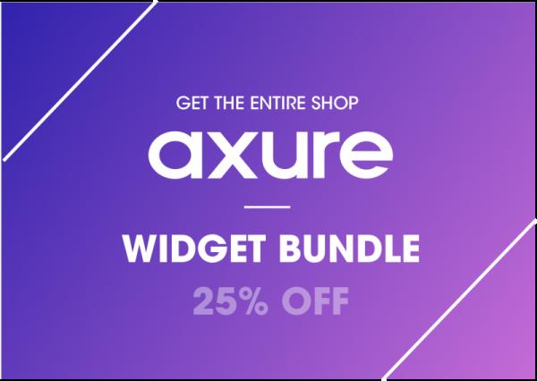 Axure widget bundle 25% OFF