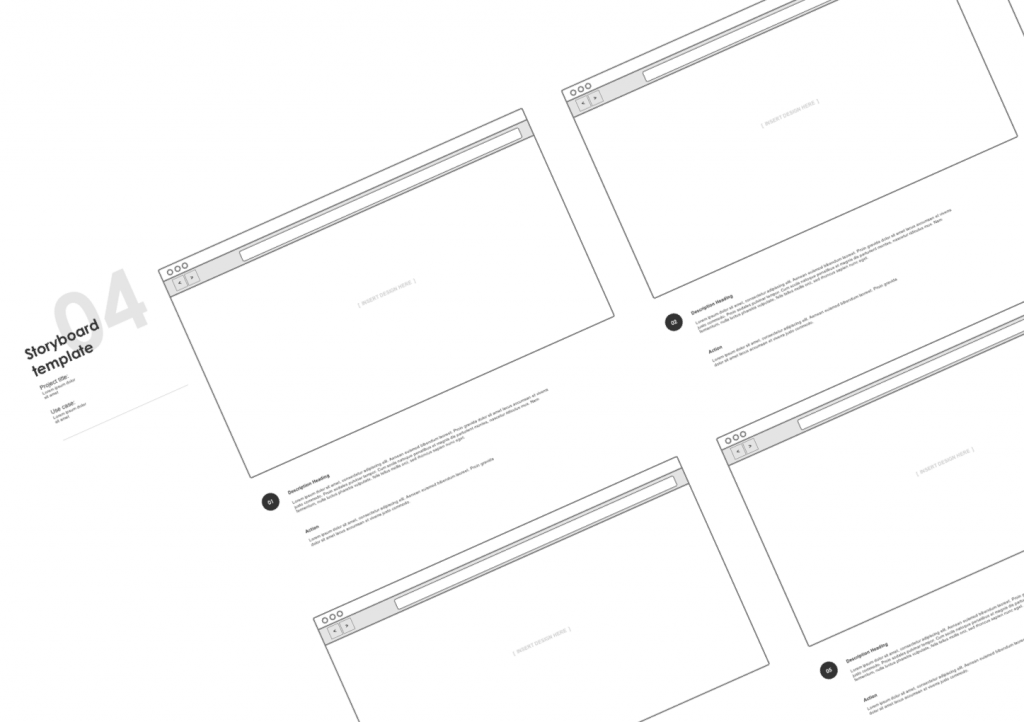 Ux Storyboard Template Images Template Design Free Download